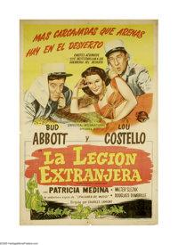 """Abbott and Costello in the Foreign Legion (Universal, 1950). Argentine Poster (29.5"""" X 43.5""""). Bud Abbott and..."""