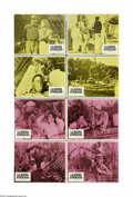 """Movie Posters:Adventure, The African Queen (United Artists, R-1975). Spanish Lobby Card Setof 8 (11"""" X 14""""). Humphrey Bogart's only Oscar-winning ro... (8items)"""