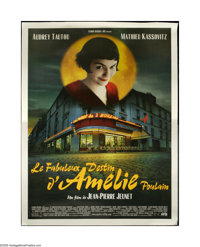 "Amélie (UGC-Fox, 2001). French Grande (46"" X 62""). One of the most delightful characters of the new cen..."