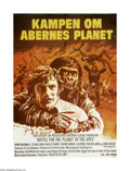 "Movie Posters:Science Fiction, Battle for the Planet of the Apes (20th Century Fox, 1972). DutchPoster (24"" X 33""). Caesar the ape (Roddy McDowall) tries ..."