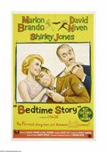 "Movie Posters:Comedy, Bedtime Story (Universal International, 1964). Australian One Sheet(27"" X 40""). The story of two con men who compete to see..."