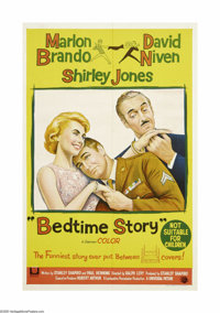 """Bedtime Story (Universal International, 1964). Australian One Sheet (27"""" X 40""""). The story of two con men who..."""