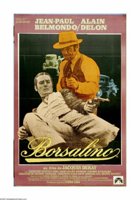 "Borsalino (Mars Film, 1970). Italian One Sheet (28"" X 43""). Jean-Paul Belmondo and Alain Delon star as small-t..."