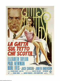 """Cat on a Hot Tin Roof (MGM, R-1974). Italian 2-Foglio (39"""" X 55""""). Tennesse Williams' play about a dysfunction..."""