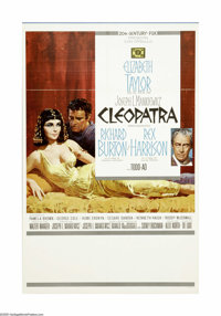 "Cleopatra (20th Century Fox, 1962). Spanish One Sheet (27"" X 41""). Still the most expensive film ever made (wi..."