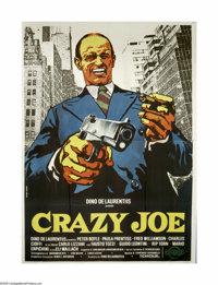 "Crazy Joe (Columbia, 1974). Italian 4-Foglio (55"" X 78""). Inspired by the success of ""The Godfather,""..."