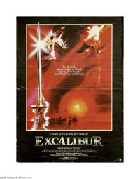 "Excalibur (Warner Brothers, 1981). Belgian Poster (15"" X 21""). A violent updating of the King Arthur legend fr..."
