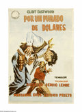 """Movie Posters:Western, A Fistful of Dollars (United Artists, 1964). Spanish One Sheet (27""""X 39""""). Offered in this lot is an original poster for th..."""