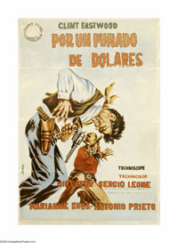 """A Fistful of Dollars (United Artists, 1964). Spanish One Sheet (27"""" X 39""""). Offered in this lot is an original..."""