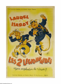 """The Flying Deuces (RKO, R-1940s). French Poster (32"""" X 47""""). One of Laurel and Hardy's best films, """"The F..."""