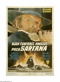 "Movie Posters:Western, Have a Good Funeral, My Friend... Sartana Will Pay (Hispamer FilmsP.C., 1970). Italian 4-Foglio (55"" X 78""). After a massac..."