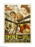 "Movie Posters:Fantasy, Hercules and the Tyrants of Babylon (Romana Film, 1964). Italian4-Foglio (55"" X 77""). Rock Stevens (later known as Peter Lu..."