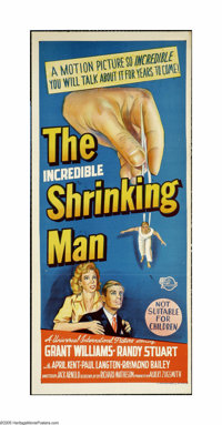 "The Incredible Shrinking Man (Universal International, 1957). Australian Daybill (13"" X 30""). ""To God the..."