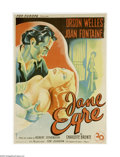 "Movie Posters:Romance, Jane Eyre (20th Century Fox, 1944). French Petite (23"" X 32"").Charlotte Bronte's tale of a governess in love was brought to..."