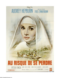 """The Nun's Story (Warner Brothers, 1959). French Grande (47"""" X 63""""). Audrey Hepburn is Sister Luke, a nun who s..."""