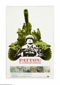 "Patton (20th Century Fox, 1970). Spanish One Sheet (27"" X 41""). ""God, how I hate the twentieth century.&q..."