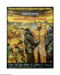 """Movie Posters:Science Fiction, Planet of the Apes (20th Century Fox, 1968). French Grande (46"""" X61""""). The original and greatest of the """"Ape"""" series, this ..."""