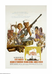 "The Sand Pebbles (20th Century Fox, 1966). Spanish One Sheet (27"" X 41""). Steve McQueen received his only Osca..."