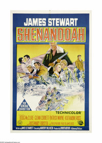 """Shenandoah (Universal, 1965). Australian One Sheet (27"""" X 40""""). James Stewart and his family do their best to..."""