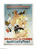 "Movie Posters:Animated, Spaccatutto (United Artists, 1979). Italian Poster (55"" X 78"").Popeye (or as he's known in Italy, Braccio di Ferro) is an i..."