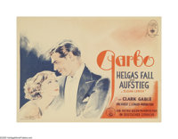 "Susan Lenox (Her Fall and Rise) (MGM, 1931). German Poster (13.5"" X 18.5""). A Cinderella story with Greta Garb..."