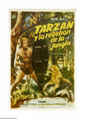 "Movie Posters:Adventure, Tarzan's Jungle Rebellion (Banner Productions, Inc., 1967). ItalianOne Sheet (29"" X 43""). A two-part episode of TV's ""Tarza..."