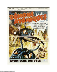 "Them! (Warner Brothers, 1954). Belgian Window Card (14"" X 21""). ""A Biblical prophecy come true -- The bea..."
