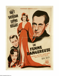 "They Drive By Night (Warner Brothers, 1940). French Petite (23"" X 31""). George Raft and Humphrey Bogart star a..."