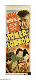 "Movie Posters:Horror, Tower of London (Universal, 1939). Australian Daybill (15"" X 40"").The storyline of Shakespeare's ""Richard III"" filtered thr..."