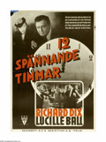 """Movie Posters:Crime, Twelve Crowded Hours (RKO, 1939). Swedish One Sheet (27"""" X 39"""").Offered here is an original poster for this crime drama sta..."""