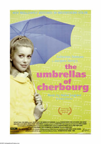 "Umbrellas of Cherbourg (Madeleine Films, R-1992). One Sheet (27"" X 41""). Catherine Deneuve and Nino Castelnuov..."