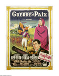 "Movie Posters:Drama, War and Peace (Paramount, 1956). French Grande (46"" X 62""). The Warof 1812, as seen through the eyes of young Natasha Rosto..."
