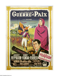 """War and Peace (Paramount, 1956). French Grande (46"""" X 62""""). The War of 1812, as seen through the eyes of young..."""