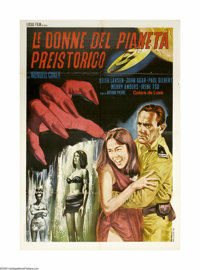 "Women of the Prehistoric Planet (Realart, 1966). Italian 2-Foglio (39"" X 55""). Wendell Corey, Keith Larsen and..."