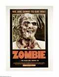 """Movie Posters:Horror, Zombie (Variety Films, 1979). One Sheet (27"""" X 41""""). Released as""""Zombie"""" in the U.S., this Italian film was one of the firs..."""