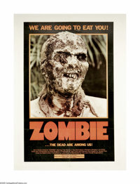 """Zombie (Variety Films, 1979). One Sheet (27"""" X 41""""). Released as """"Zombie"""" in the U.S., this Italian..."""