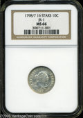 Early Dimes: , 1798/97 10C 16 Stars on Reverse MS66 NGC JR-1....