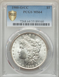 1900-O/CC $1 MS64 PCGS Secure. PCGS Population: (2131/1010 and 99/56+). NGC Census: (788/195 and 31/5+). CDN: $850 Whsle...