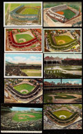 Autographs:Post Cards, Chicago Cubs / Wrigley Field Postcard Lot of 10.. ...