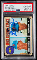 Autographs:Sports Cards, Signed 1968 Topps Nolan Ryan Mets Rookies #177 PSA/DNA Gem Mint 10. ...