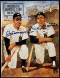 Autographs:Letters, 1991 Joe DiMaggio/Mickey Mantle Signed Beckett Baseball CardMonthly.. ...