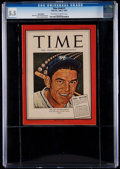 """Baseball Collectibles:Publications, 1945 Mel Ott """"TIME"""" Magazine Pony Edition CGC 5.5 - None Higher....."""