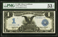Large Size:Silver Certificates, Fr. 235 $1 1899 Silver Certificate PMG About Uncirculated 53 EPQ.....
