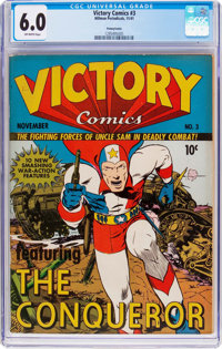 Victory Comics #3 Pennsylvania Pedigree (Hillman Publications, 1941) CGC FN 6.0 Off-white pages