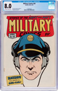 Golden Age (1938-1955):War, Military Comics #38 (Quality, 1945) CGC VF 8.0 Off-white to white pages....
