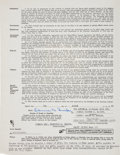 Baseball Collectibles:Others, 1944 Duke Snider Signed Montreal Royals Uniform Player's Contract & Correspondence - First Professional Season. . ...