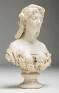 Decorative Arts, Continental, Antonio Bottinelli (Italian 1827-1898). Allegory of Summer .Marble. 27-1/4 inches (69.2 cm) high. Signed A. Bottinell...(Total: 2 Items)