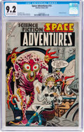 Golden Age (1938-1955):Science Fiction, Space Adventures #12 (Charlton, 1954) CGC NM- 9.2 Cream tooff-white pages....