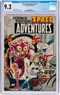 Space Adventures #12 (Charlton, 1954) CGC NM- 9.2 Cream to off-white pages