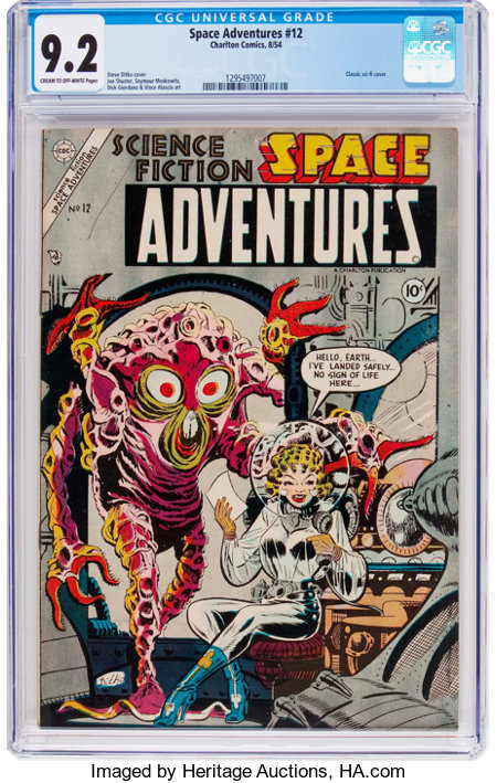 Space Adventures #12 (Charlton, 1954) CGC NM- 9.2 Cream to off-white pages....